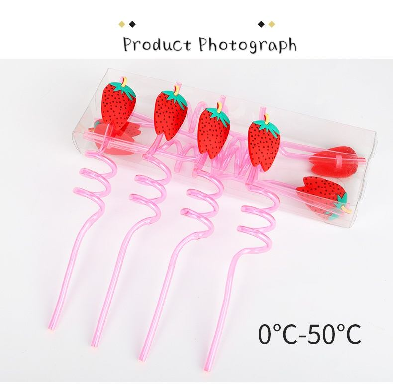 artistic hard plastic crazy drinking straw for party