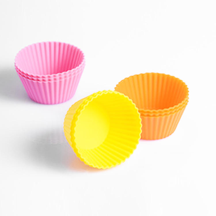 Hot Products 7cm Cake Muffin Cup Silicone Egg Tart Mould Reusable Various Shapes High Temperature Resistant DIY Baking Tools
