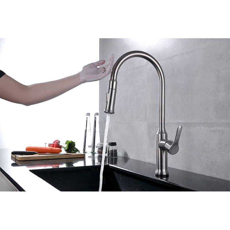 Hot sales 2 Function Pull Down Water Faucet Retractable Sink Mixer Taps Sensor touch upc Kitchen Faucet