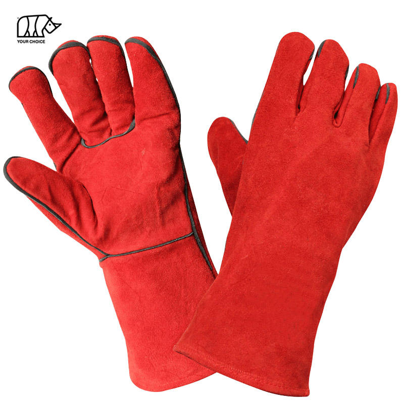 14 Inch Waterproof Heat Resistant Leather Industrial Protective Work Safety Welding Gloves
