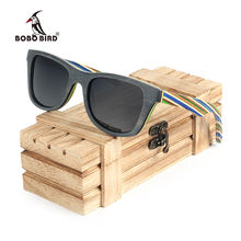 BOBO BIRD colorful legs handmade bamboo uv400 protection sunglasses with good quality
