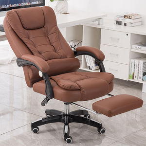 Luxury Leather 7 point massage swivel ergonomic comfortable high back boss president executive manager office chair