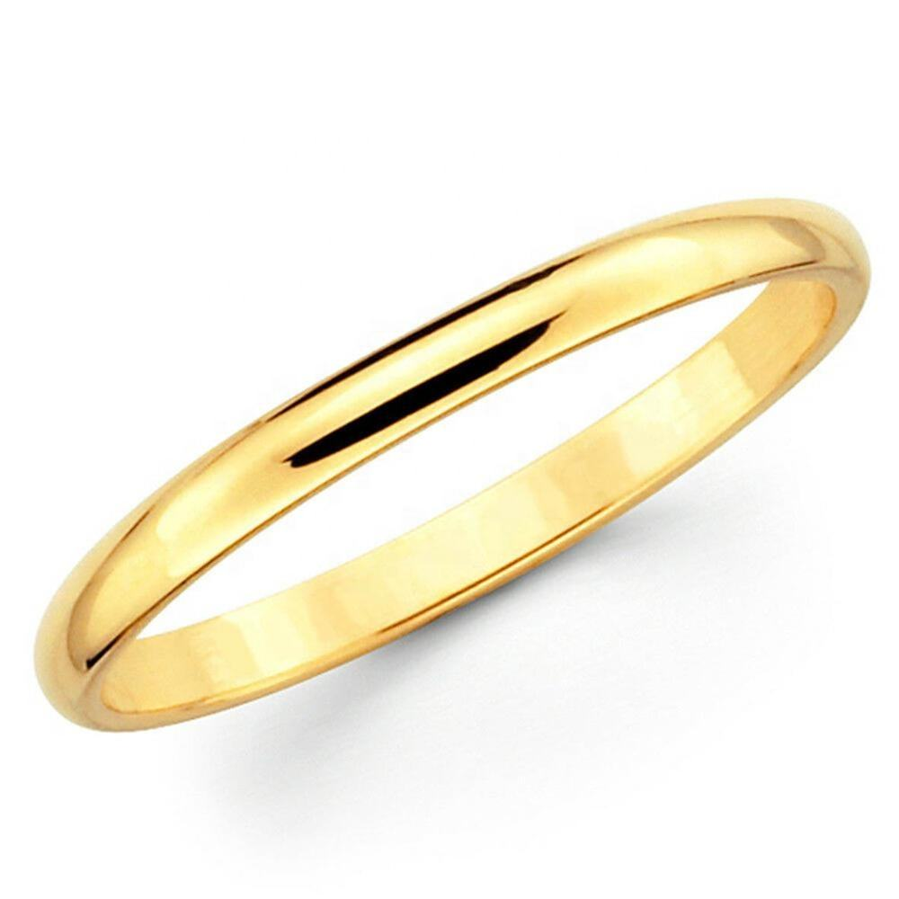 Solid 14K Geel Goud Comfort Fit Wedding Band Plain 2mm 3mm 4mm 5mm <span class=keywords><strong>Mannen</strong></span> Vrouwen