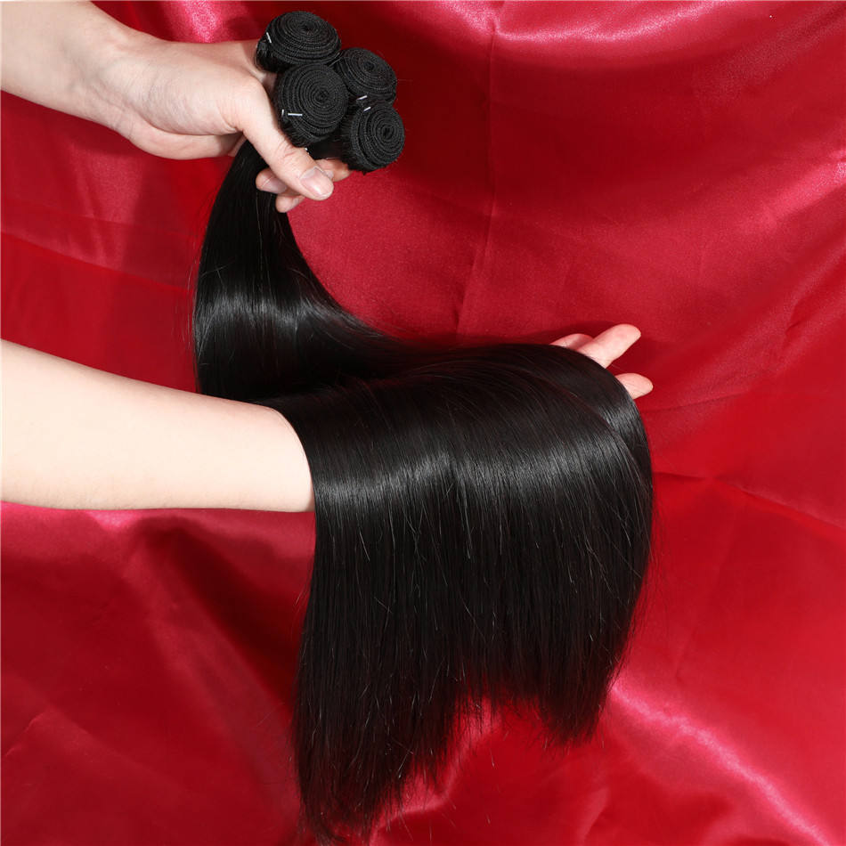 Wholesale 10A Straight Raw Indian Hair Virgin Cuticle Aligned Hair Bundles