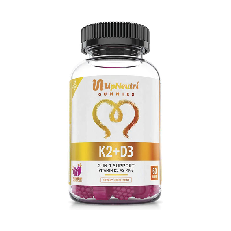 OEM Bone e Salute Del Cuore <span class=keywords><strong>Formula</strong></span> Supplemento 2 in 1 Vitamina K2 K7 con D3 Gummies