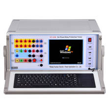 HT-1200 6 Phase Microcomputer Relay Protection Tester High Precision Relay Test Kit
