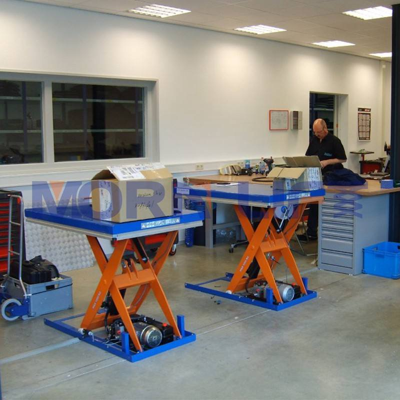 MORN mini small scissors hydraulic lift table stationary scissor lift platform warehouse cargo lift
