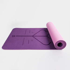 Stretchy Pilates Yoga Mat Fitness Merchandise Tpe Yoga Mat