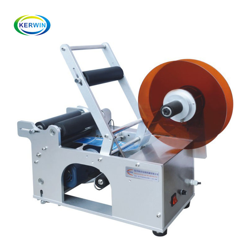 Professional sticker labeling and printing machine/wrap around labeling machine/round bottle paste labeling machine