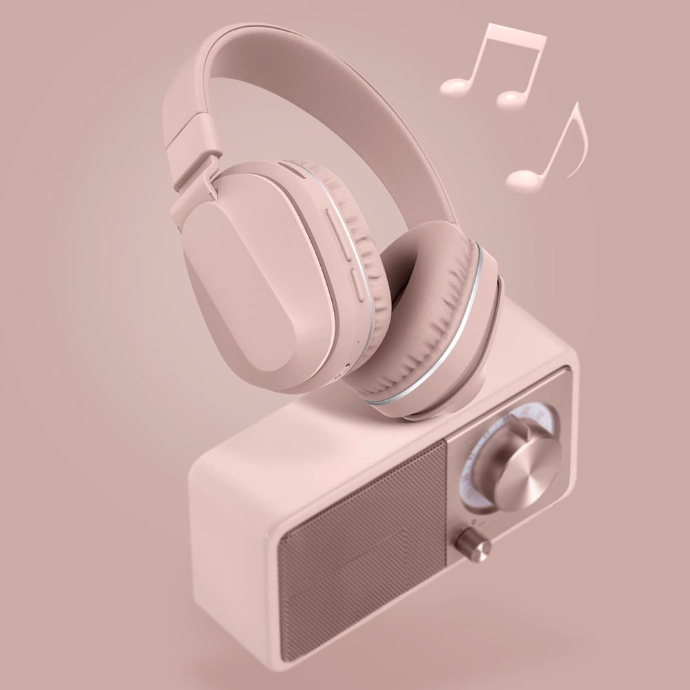 Foldable heavy duty bt 5.0 wireless headset bluetooth