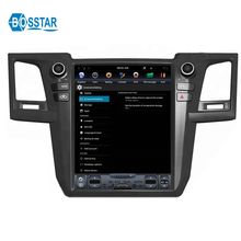 12.1inch tesla  Car radio DVD Player for toyota fortuner 2015  with Android gps and wifi