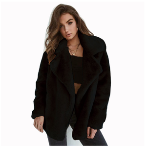 Long Sleeved Winter Thick Sexy Solid Color Lapel Can Be Customized Coat