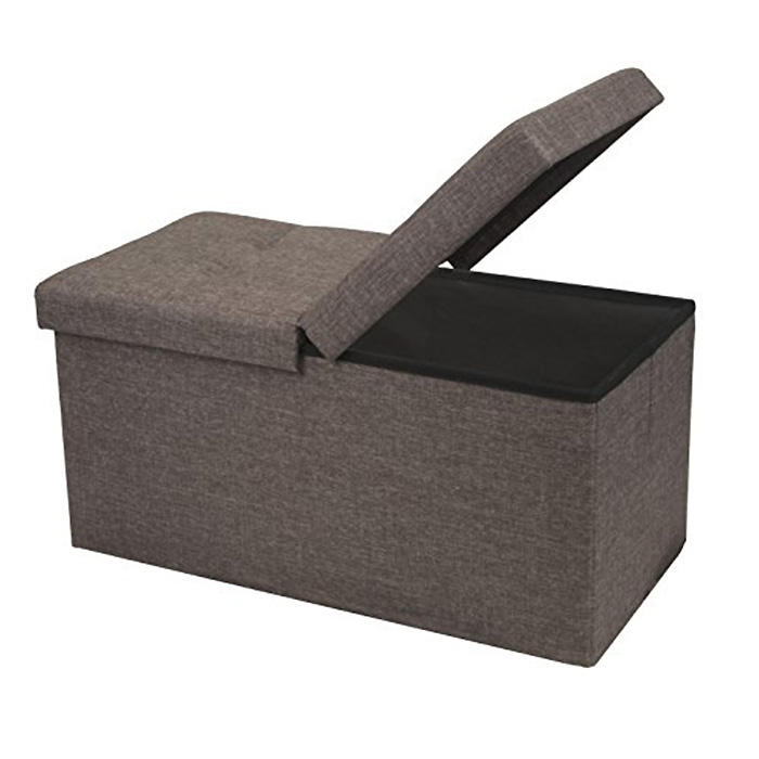 HOT SALE  Fabric Foldable storage ottoman sofa
