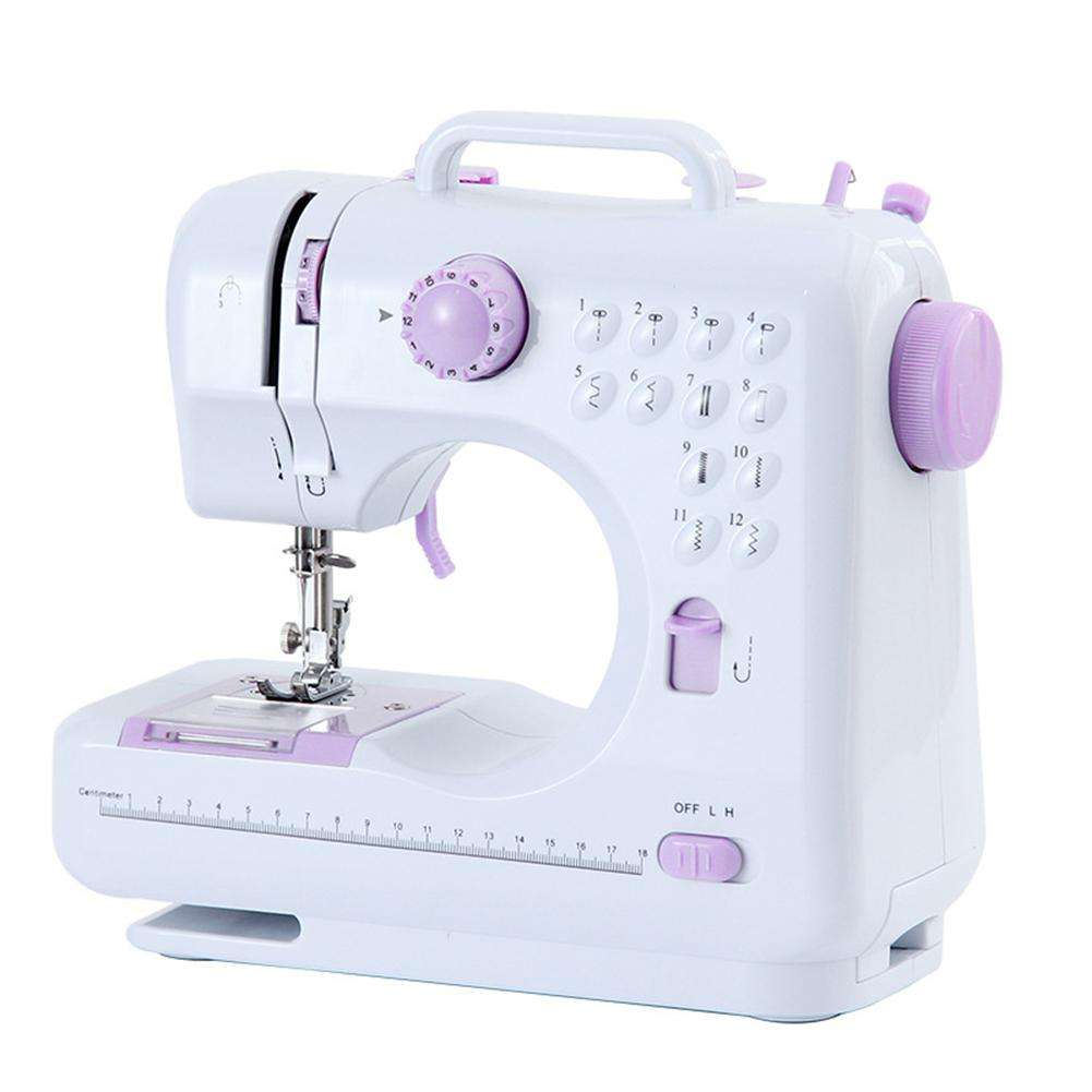 Portable Sewing Machine with 12 Built-in Stitches Easy-to-use Sewing Machine for Beginners Adult Children