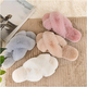 Custom LOGO Cross Band Slippers Soft Plush Furry Home Shoes Flip Flop Indoor Outdoor Fur Women's Sandals