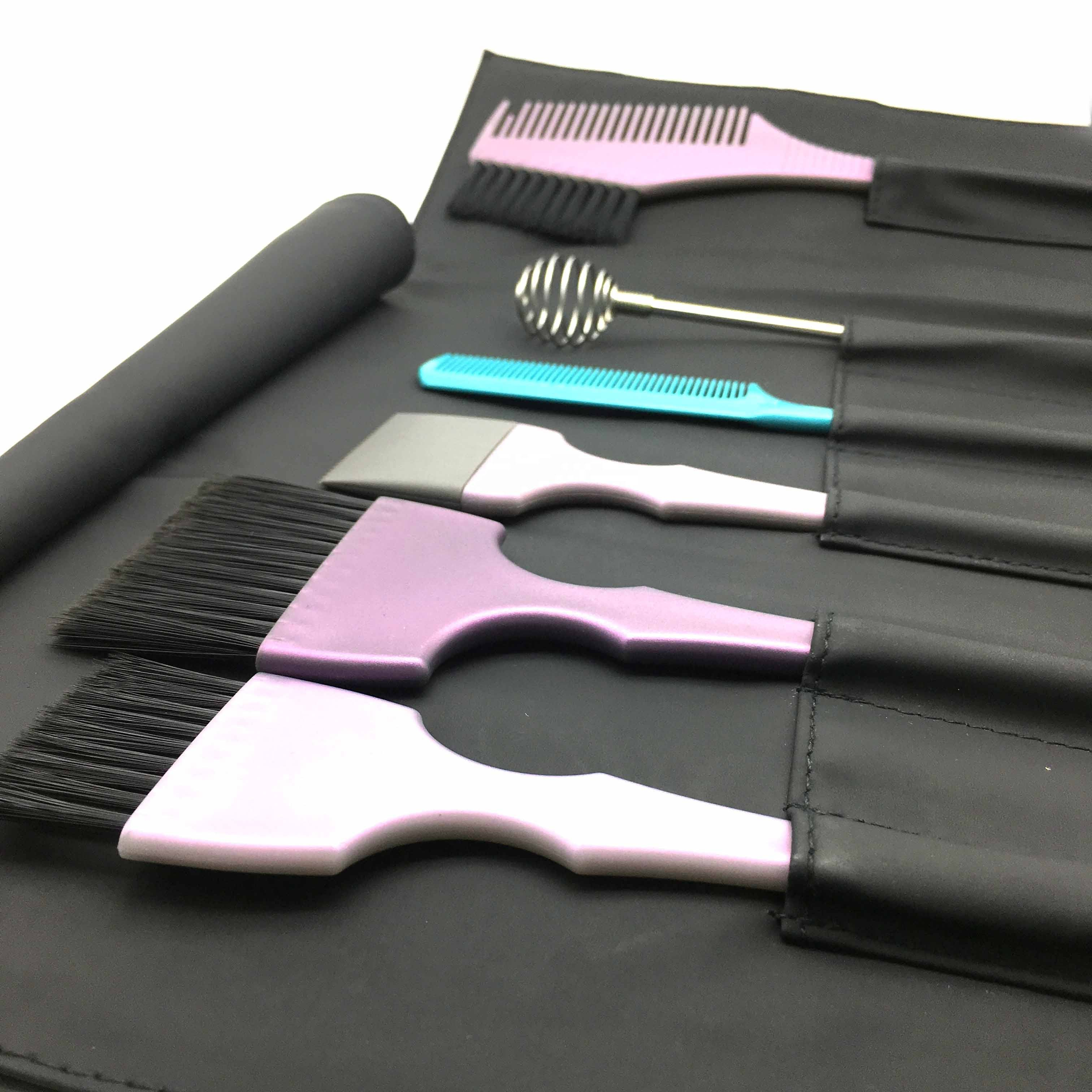 Hot selling 6pcs/set hair dye coloring kit double-sided Tinting Applicator Comb