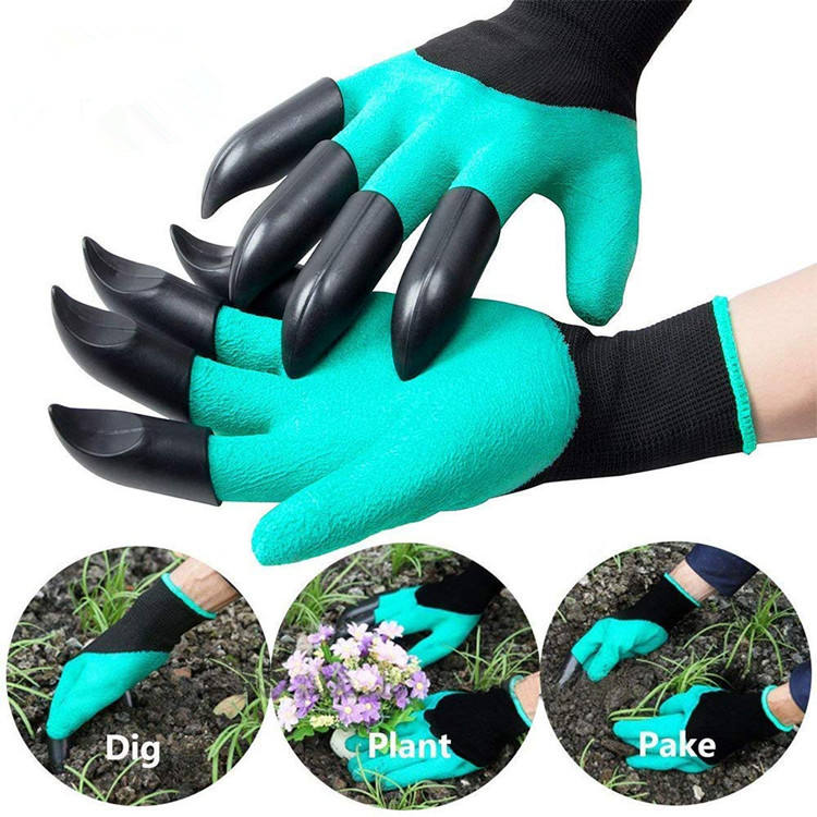 Waterproof and Breathable Wholesale Garden Genie Gloves with Claws for Gardening Digging and Planting