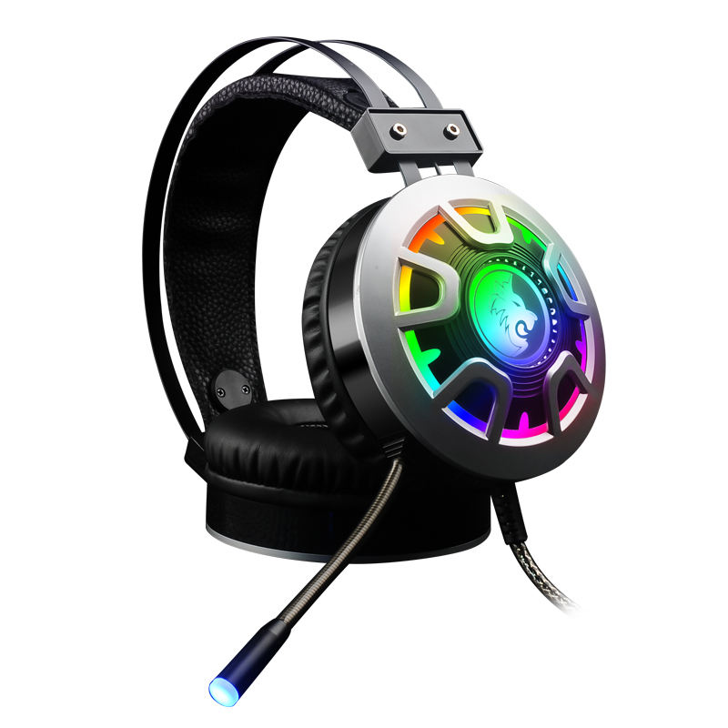 Best Selling Vibration 7.1 virtual USB gaming headset with RGB lights Wired Headphone gamer With Audit Reports of BSCI, ISO9001