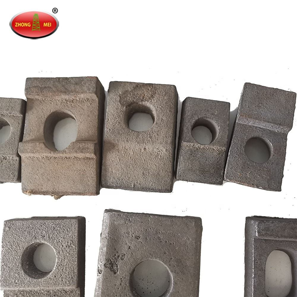 15kg Railway Track Materials Mild Steel Rail Clip Forging Pressing Plate