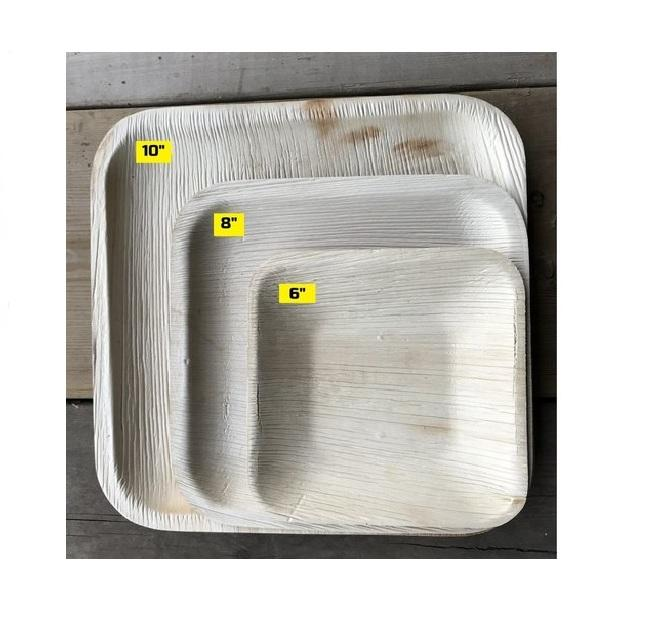 DISPOSABLE BAMBOO ARECA PALM LEAF PLATES