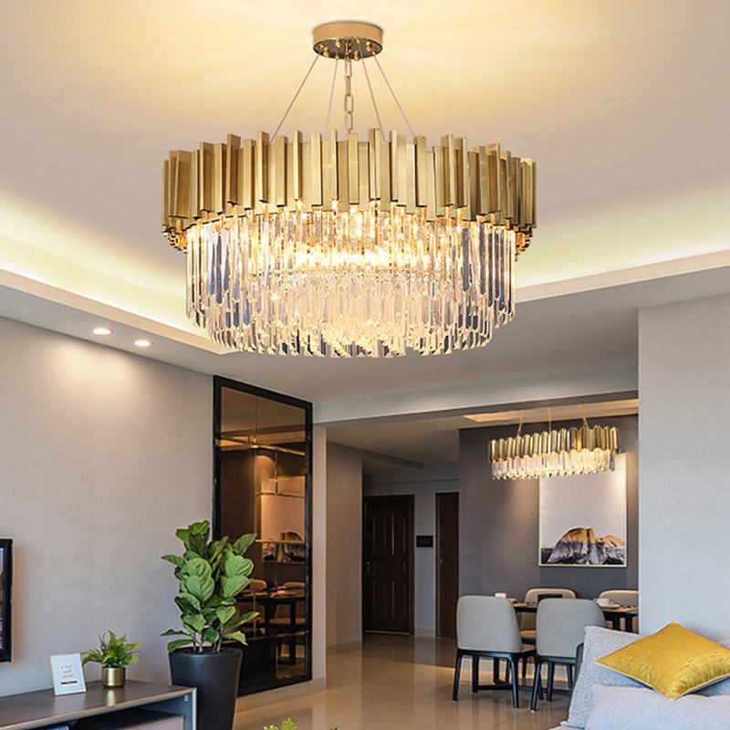china products modern 8 lights gold modern chandeliers ceiling light led chandelier K9 crystal pendant lamp gold luxury lighting