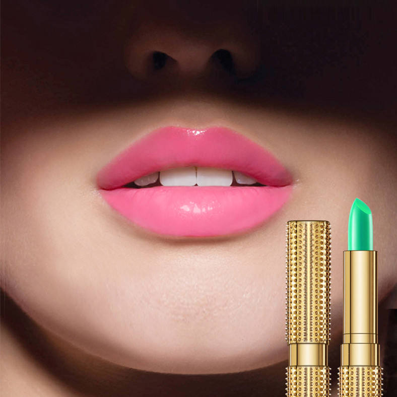 KissBeauty Gold Tube Design Color Changing Lip Balm Mosturize Sweet Lips Magic Lipstick Nudes Rossetto Cambia Colore