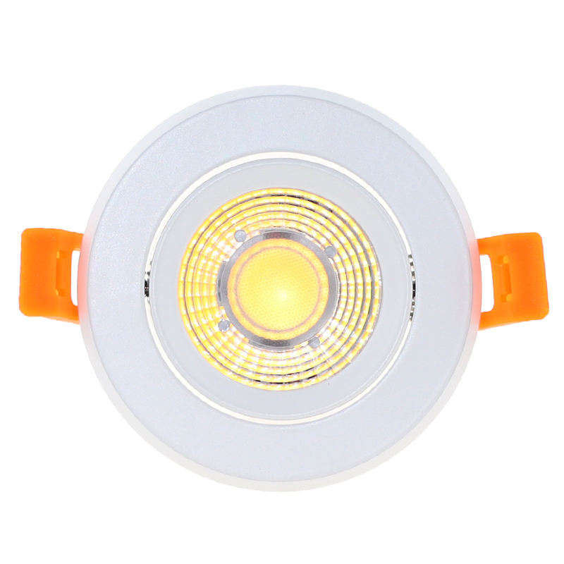 Modern Indoor Lighting 9W Dimmable Recessed Led COB Downlight Round Adjustable Surface Mounted Ceiling Spotlight