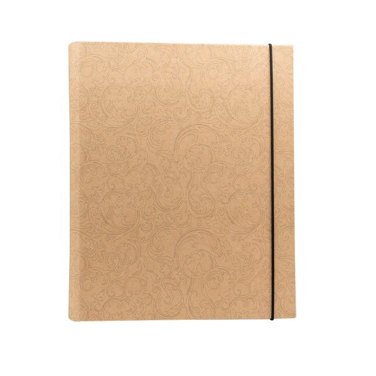 Custom Design Stationery Kraft Paper Expandable Clipboard Paper File Folder