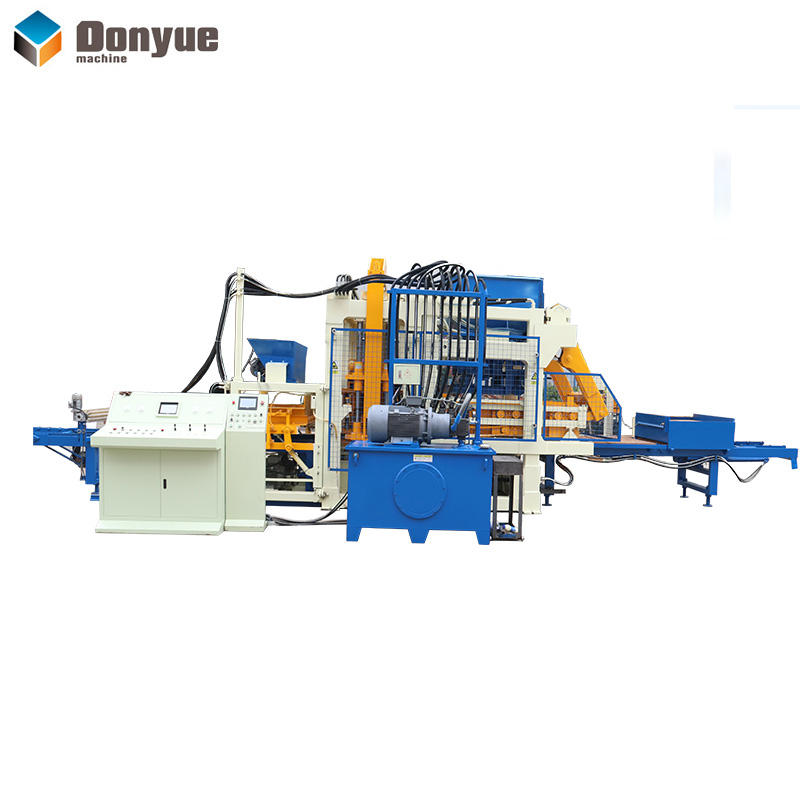 High output QT10-15 Automatic solid block sidewalk brick making machine with high quality