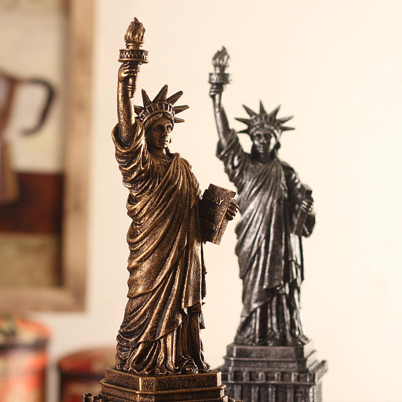 of Statue Sculpture from New York City Liberty Island Collection Souvenirs (13.4 Inches Tall)