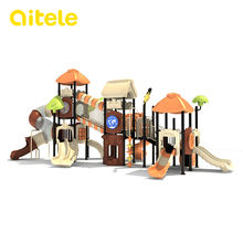 new design three house kids zone slide outdoor playground equipment