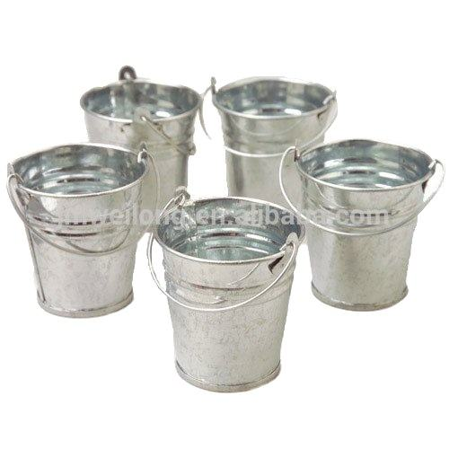 Galvanized Metal Bucket with Handle