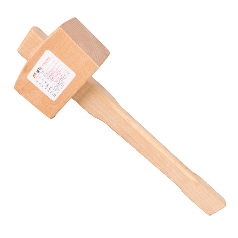 130mm Solid Beech Hammer Carpenter Wood Carving Smooth Surface Woodworking Mallet