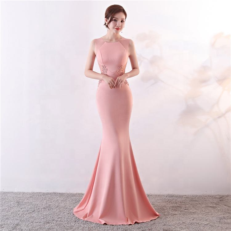 926 # Evening Dress Female Banquet Host Elegant Five-colour club Party Dress wedding dress