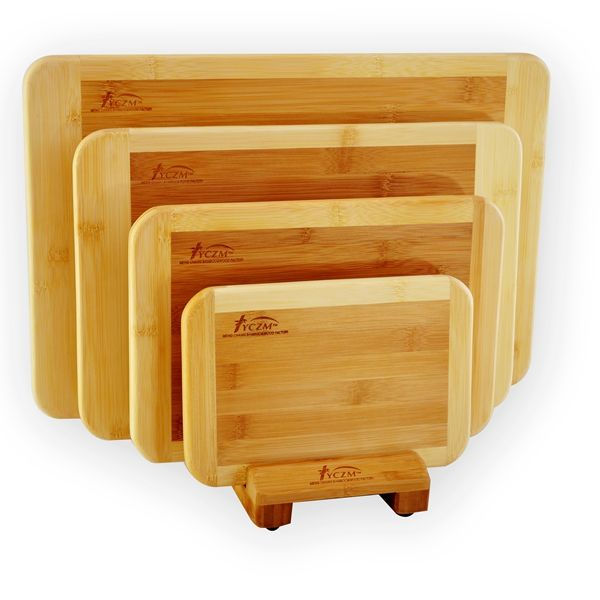 Premium Bamboo Cutting Boards Set Of 3 Chopping Kitchen Natural