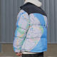 Custom Windbreaker Jacket Custom All Over Printing Patchwork Stand Collar Ready Slim Fit Unisex Windbreaker Couple College Puffer Winter Jacket For Men