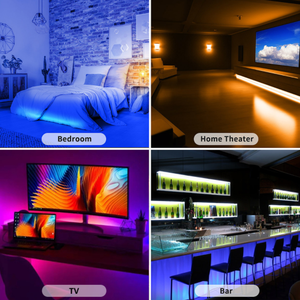 Mini Flexible Home Room Bedroom 5M 2835 Smd Ip 65 Rgb Smart Waterproof Led Strip Light With Remote Control