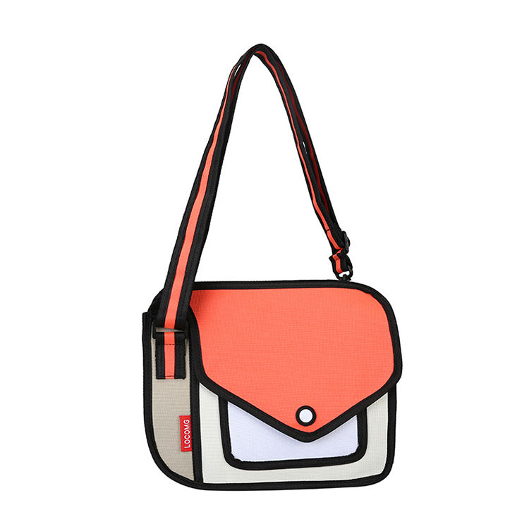 2021 original wholesale new trend sling female 3d stereo vision mini bag school bag men and women shoulder comic bag handbag