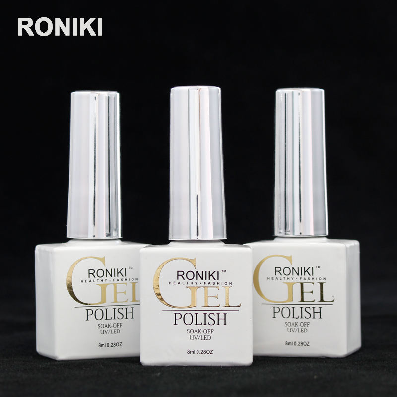 RONIKI non toxic soak off oem custom logo pivate label colour uv led nail gel polish