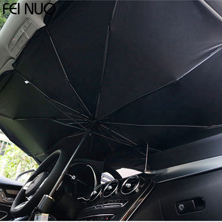 10K portable nylon sunshade foldable shade front car windshield sun umbrella for automobile internal
