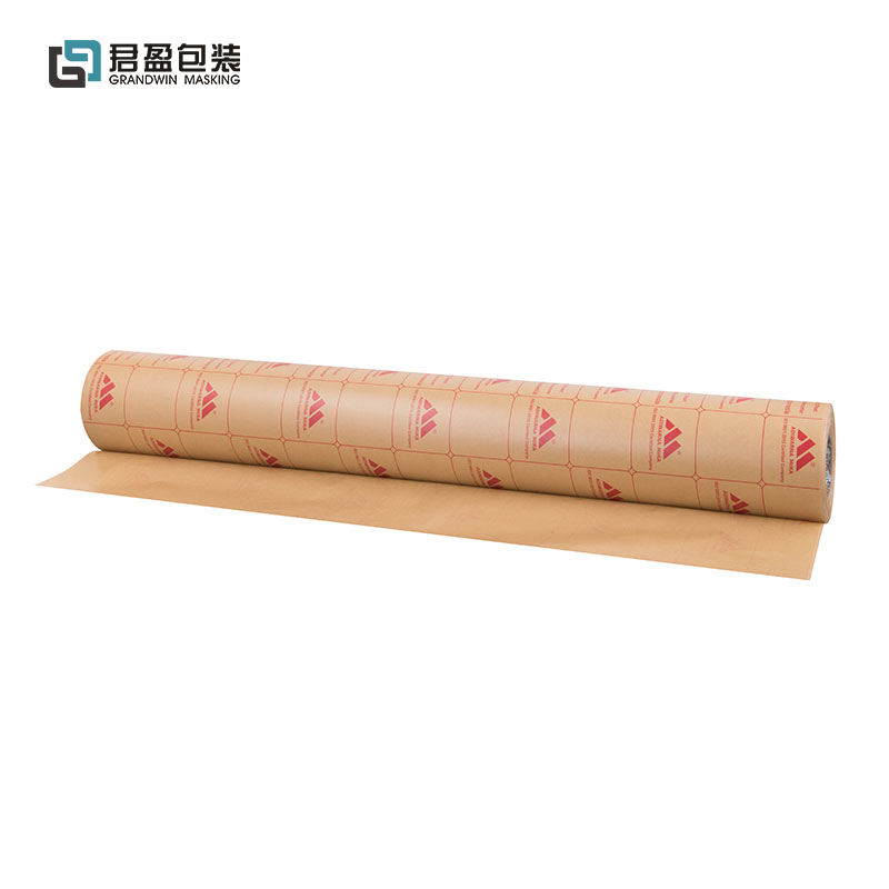 Cheap Price Self Adhesive Plastic One Single Side 60gsm PE Coated Brown Kraft Paper Roll For PMMA Sheets