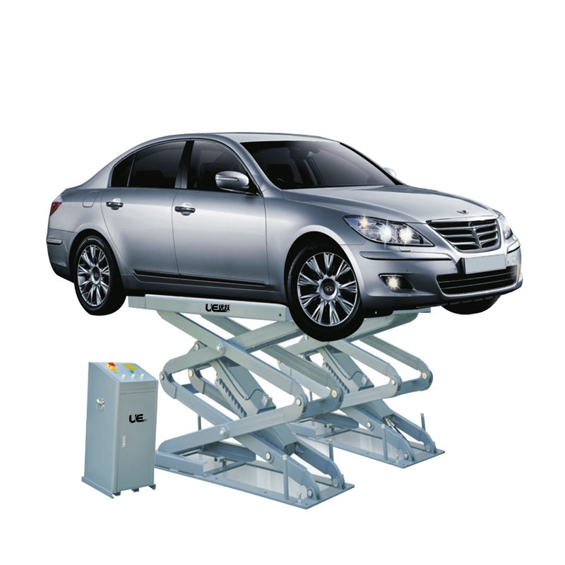 CE certified 3.5T flush mounted car scissor lift platform portable hydraulic inground scissor lift UE-8535. car lift