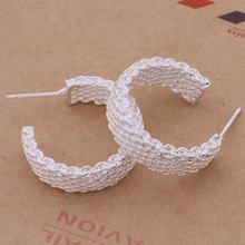 silver plated jewelry fashion statement korean custom luxury vintage bridal wholesale big hoop earrings for women 2020