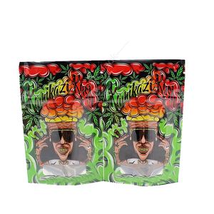 High Quality Printed Glossy Zipper Top Edible Mylar Plastic Packaging Bags Weed