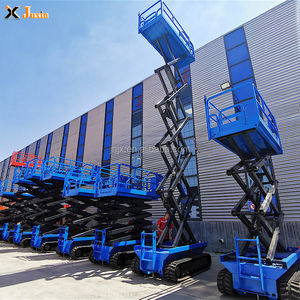 10m electric genie lift manlift crawler scissor lift platforms