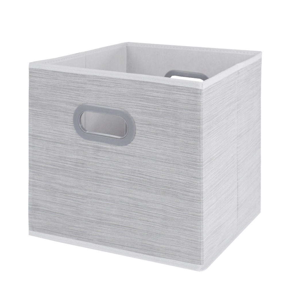 Custom design large eco friendly material non woven toy home fabric foldable storage box with cardboard for kinds