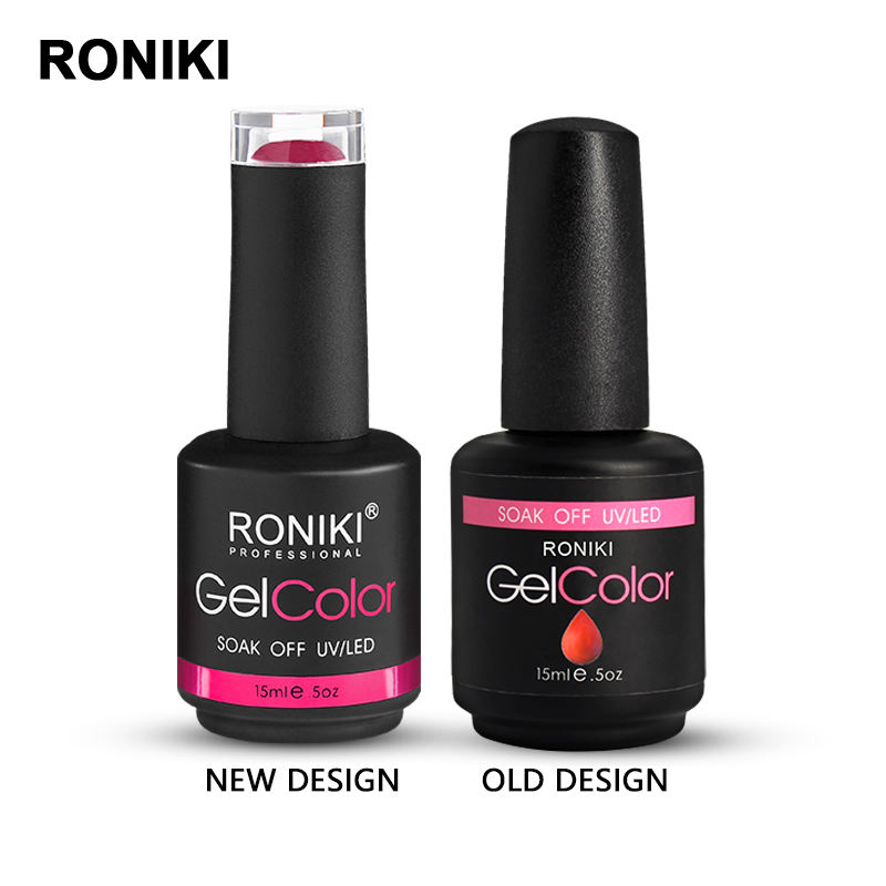 Soak Off Gel Polish RONIKI Free Sample 15ml Soak Off Private Label Uv Gel OEM Color Nail Gel Polish