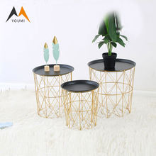 Wholesale Fashion Classic Iron Metal Round Coffee Table for Home Use