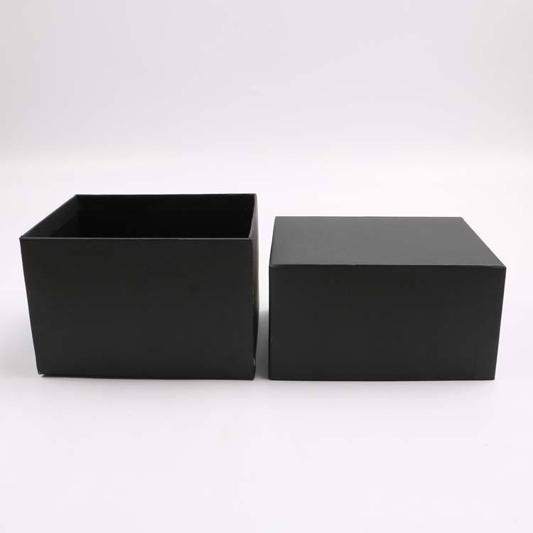 Haut de gamme Design Logo Personnalisé Papier Manteau Gris Noir Boîtes Pour Emballage Cadeau
