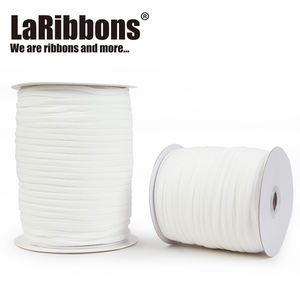 Stock 3mm 5mm factory white round rope earloop string roll DIY elastic ribbon band elastic cord